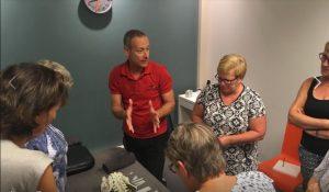 bezoek Actieve Mierdse Vrouwen vereniging, naaldjes, prikken, dry needling, Lage Mierde, ontspannen spieren, Dry Neelding